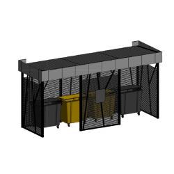Контейнерная площадка NA1005 (6880х1880х2400)