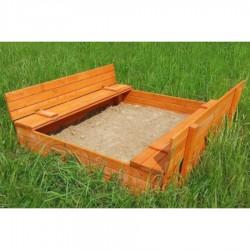 Песочница с лавочками «Ладушки»