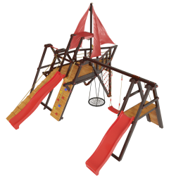 Детская игровая деревянная площадка-корабль «Каравелла»